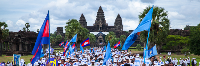 CNRP campaigns in Siem Reap
