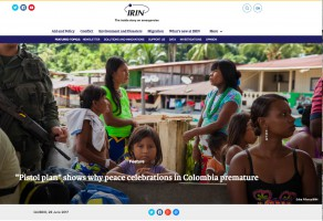 "IRIN News – ""Pistol plan"" shows why peace celebrations in Colombia premature"